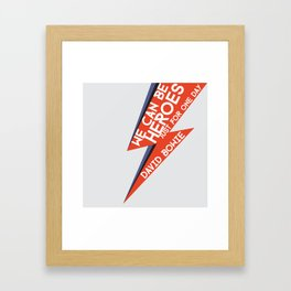 Heroes - Just for one day Framed Art Print