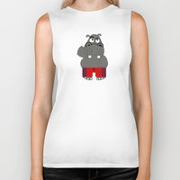 hippo Biker Tanks featuring Hippo by lescapricesdefilles