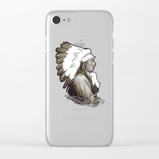Native American I. Digital painting Clear iPhone Case
