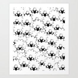 Count Sheep 1 Art Print