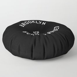 Brooklyn - NY, USA (Badge) Floor Pillow