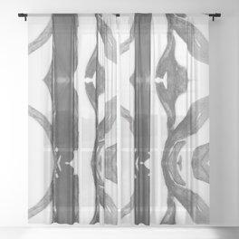 Noir Branches Sheer Curtain