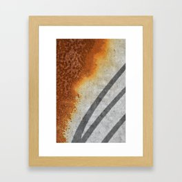 Rust Abstract I Framed Art Print