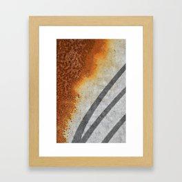 Rust Abstract I Framed Art Print