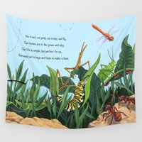 bugs Wall Tapestries featuring Bugs by CWaldron