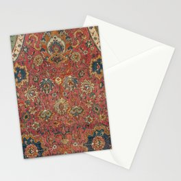 Persian Medallion Rug IV // 16th Century Distressed Red Green Blue Flowery Colorful Ornate Pattern Stationery Cards