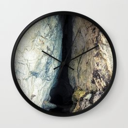 Seacoast of Palinuro with its wonderful crystal clear water sea and caves Wall Clock