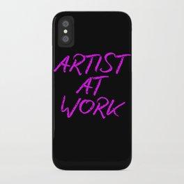 Artist at Work (pink) iPhone Case