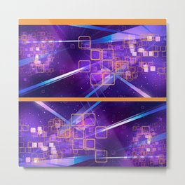 Cosmic Squares Metal Print