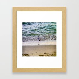 A Seagull Looks Out to Sea Framed Art Print