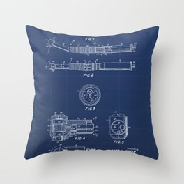 Dental Hand Piece Vintage Patent Hand Drawing Throw Pillow