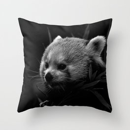 Awesome B&W red Panda Throw Pillow