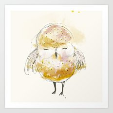 just a little owl Art Print