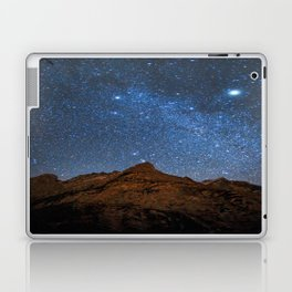 Starry Night: Brilliant Blue Stars Behind Rocky Mountain Laptop & iPad Skin