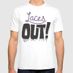 Laces out! MEDIUM White Mens Fitted Tee