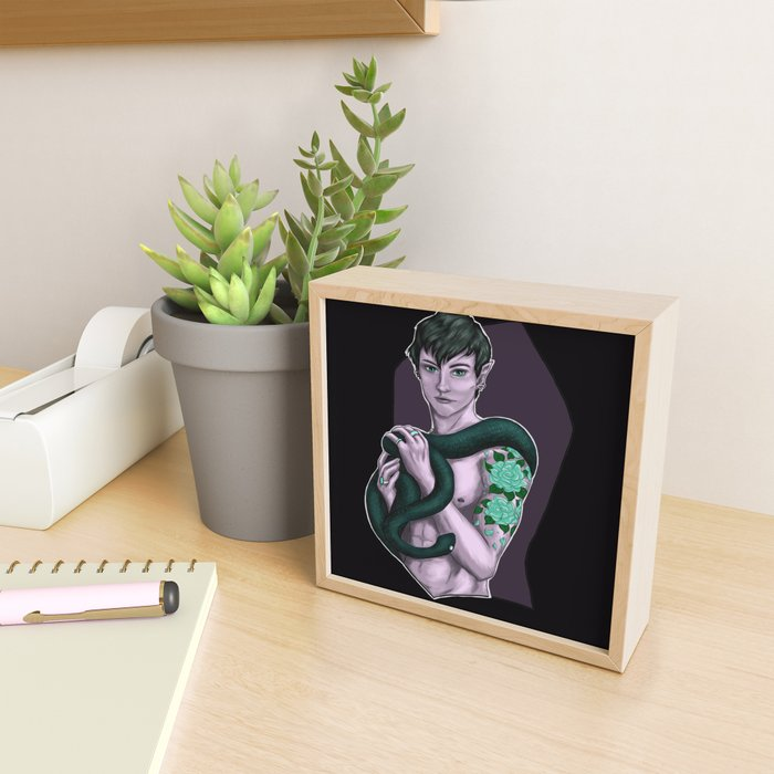 Snake Framed Mini Art Print