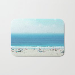 Elevated View Of Beach Of A Summer Day Bath Mat