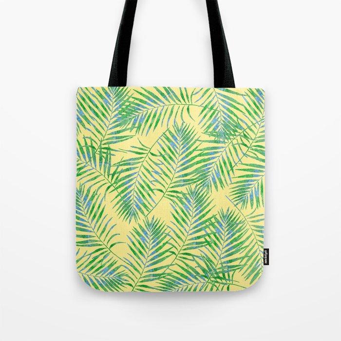Fern Leaves Yellow Tote Bag