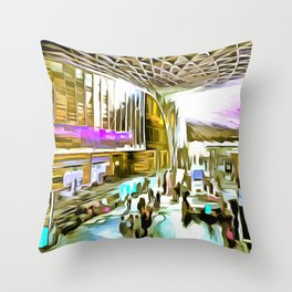 Kings Cross Station London Pop Art Throw Pillow
