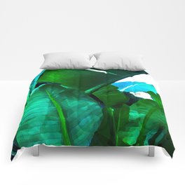 Tropical paradise Comforters