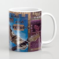 stevie nicks Mugs featuring Stevie Ray Vaughan by Ray Stephenson