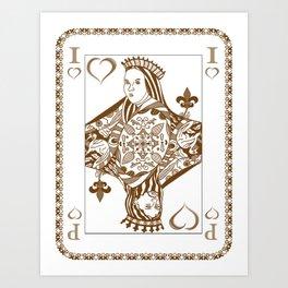 The Card Art Print