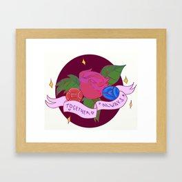 Together always (Ruby/Saphire) Framed Art Print