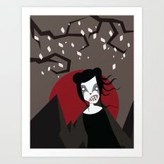 Under The Red Moon Art Print