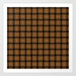 Brown Weave Art Print