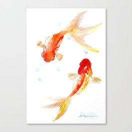 Goldfish, Two Koi Fish, Feng Shui, yoga Asian meditation design Canvas Print