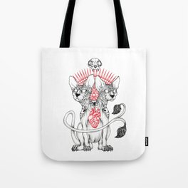Two headed Sphynx Tote Bag