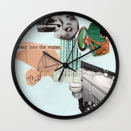 went into the water Wall Clock