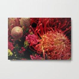 Flowers of warm shades Metal Print