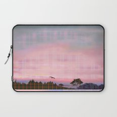 Plaid Landscape Tranquil Sunset Laptop Sleeve