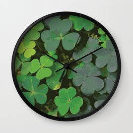 Bed of Clovers Wall Clock