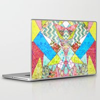 quilt Laptop & iPad Skins featuring Geometric Quilt by Sandra Arduini