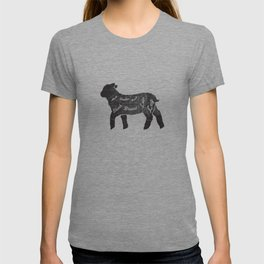 Lamb Butcher Diagram-Sheep T-shirt
