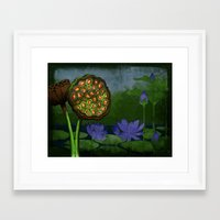 nursery Framed Art Prints featuring Nursery by Inu'tska