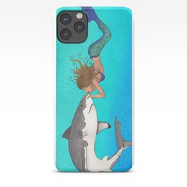 The Shark and the Mermaid iPhone Case