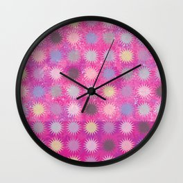 Colorful Sun Pattern II Wall Clock
