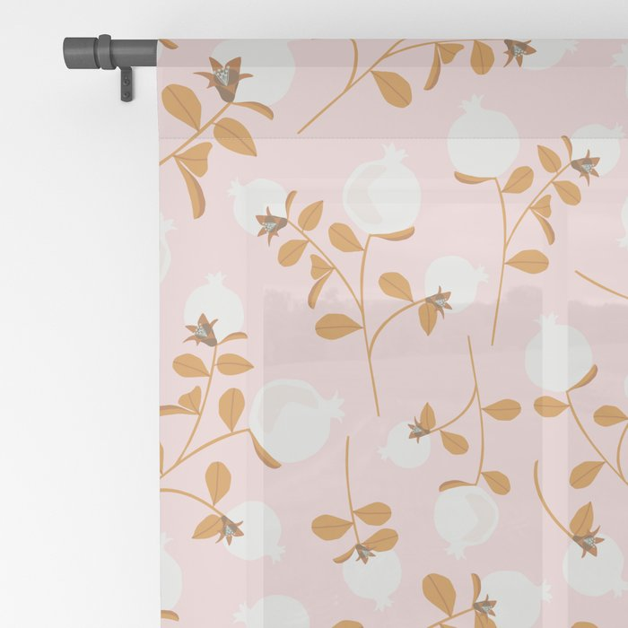 Pom Floral Sheer Curtain