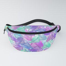 Placer precious stones . White background . Fanny Pack