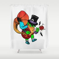butcher billy Shower Curtains featuring Billy Rocca by Brão Barbosa
