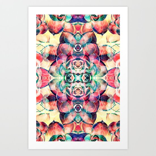 Succulents Abstract Art Print