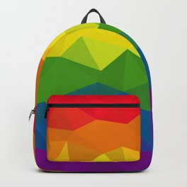 Low poly rainbow Backpack