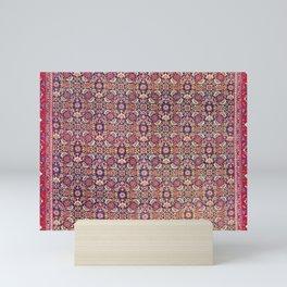 Bijar Kurdish Persian  Antique Tribal Rug Print Mini Art Print
