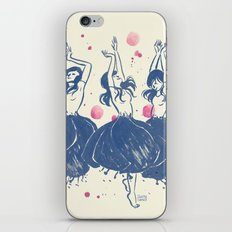 Dancing Poppies iPhone & iPod Skin