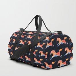 Rainbow horse in watercolors Duffle Bag