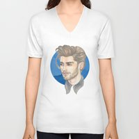 zayn malik V-neck T-shirts featuring Malik by Megan Diño