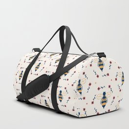 Floral Honeycomb Duffle Bag